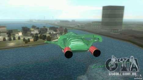 ThunderBird 2 para GTA Vice City vista direita