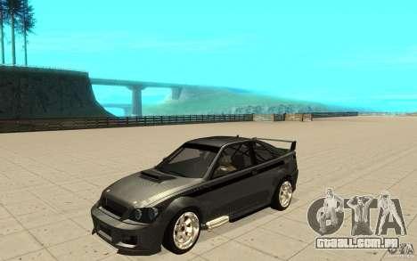 GTA IV Sultan RS FINAL para GTA San Andreas vista interior