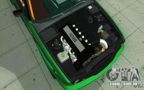 BMW E34 V8 Wide Body para GTA San Andreas vista inferior