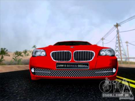 BMW 550i 2012 para GTA San Andreas vista interior