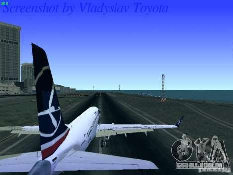 Embraer ERJ 190 LOT Polish Airlines para GTA San Andreas vista traseira