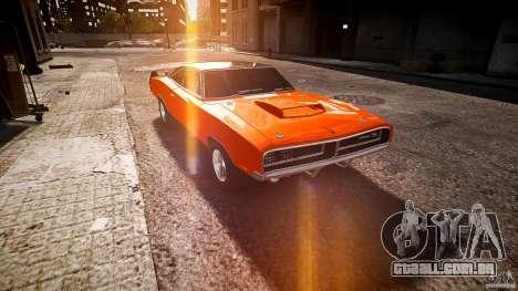 Dodge Charger RT 1969 esportes de v 1.1 tun para GTA 4 vista de volta