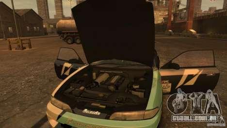 Nissan Silvia S14 Zenki Team Need for Speed para GTA 4 traseira esquerda vista