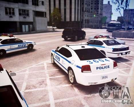 Dodge Charger 2010 NYPD ELS para GTA 4 traseira esquerda vista