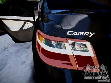 Toyota Camry para GTA 4 vista lateral