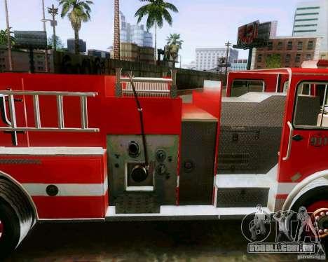 Pumper Firetruck Los Angeles Fire Dept para GTA San Andreas traseira esquerda vista