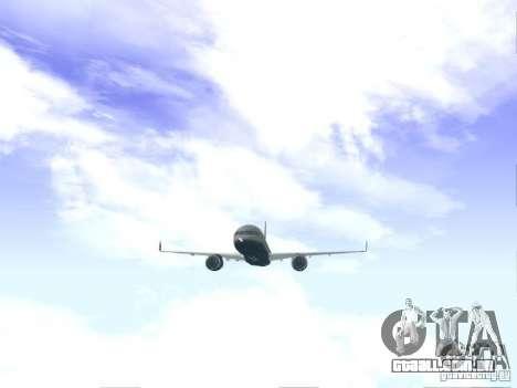 Boeing 757-200 United Airlines para GTA San Andreas vista direita
