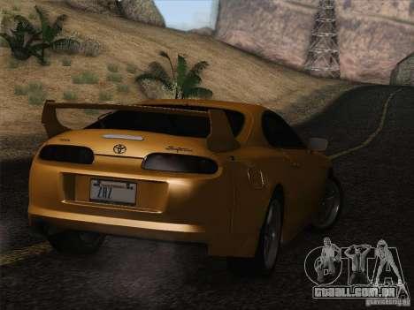 Toyota Supra TRD3000GT v2 para GTA San Andreas vista inferior