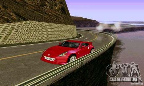 Nissan 370Z para GTA San Andreas vista superior