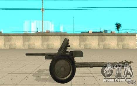 Arma de Regimento, 53-45 mm para GTA San Andreas esquerda vista
