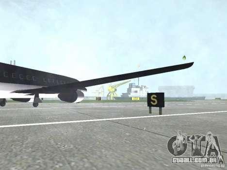 AT-400 em todos os aeroportos para GTA San Andreas por diante tela