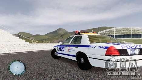 Ford Crown Victoria 2003 NYPD para GTA 4 traseira esquerda vista