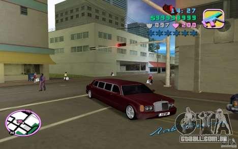 Rolls Royce Silver Seraph para GTA Vice City deixou vista