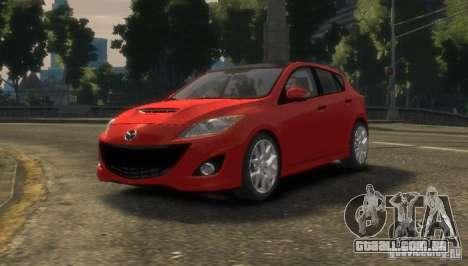 Mazda Speed 3 2010 para GTA 4 traseira esquerda vista