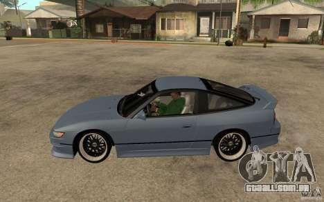 Nissan Silvia80 - EMzone Edition para GTA San Andreas esquerda vista