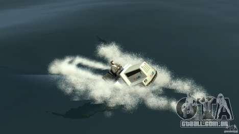 Airtug boat para GTA 4 traseira esquerda vista