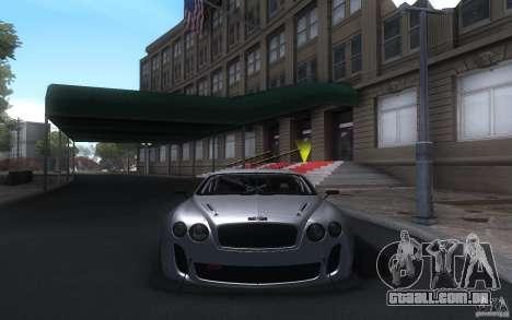 Bentley Continental Super Sport Tuning para GTA San Andreas esquerda vista
