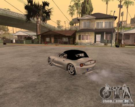 BMW Z4 para vista lateral GTA San Andreas