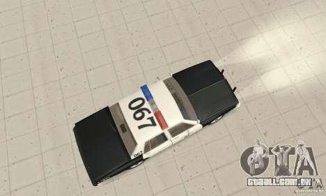 Chevrolet Caprice Interceptor 1986 Police para GTA San Andreas vista direita