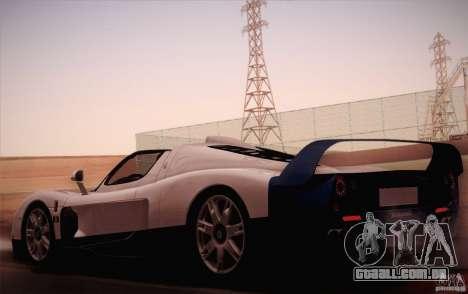 Maserati MC12 V1.0 para GTA San Andreas esquerda vista