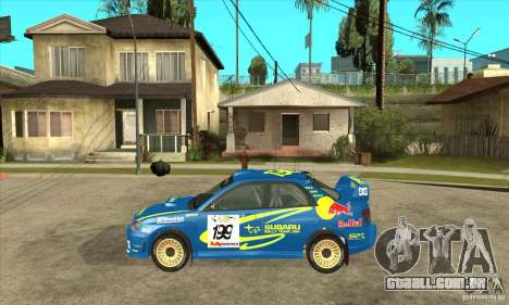 Subaru Impreza STi WRC wht2 para GTA San Andreas vista direita