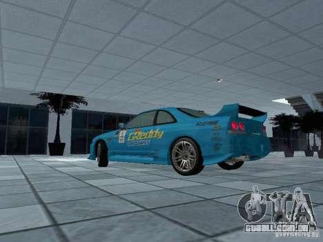 Nissan Skyline R 33 GT-R para GTA San Andreas esquerda vista