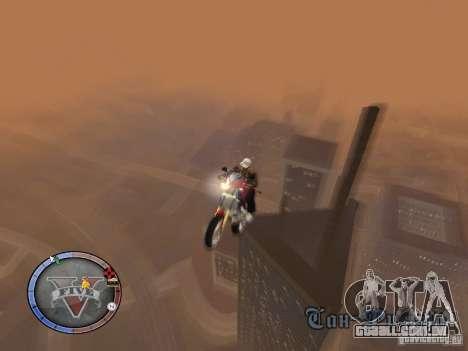 GTA 5 HUD para GTA San Andreas sexta tela