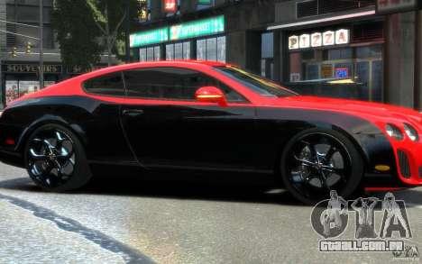 Bentley Continental SS MansorY para GTA 4 vista interior