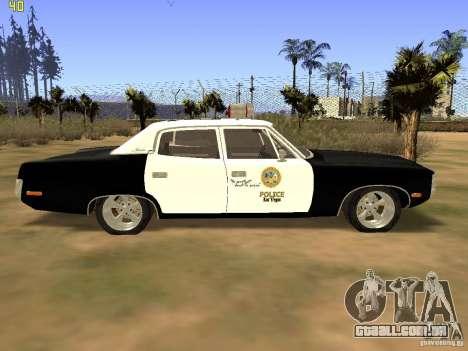 AMC Matador SA Police 1971 Final para GTA San Andreas traseira esquerda vista