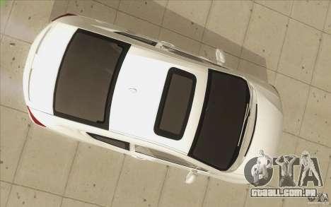 Honda Civic SI 2012 para GTA San Andreas vista inferior