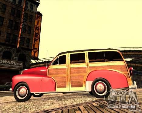 Chevrolet Fleetmaster 1948 para GTA San Andreas vista traseira