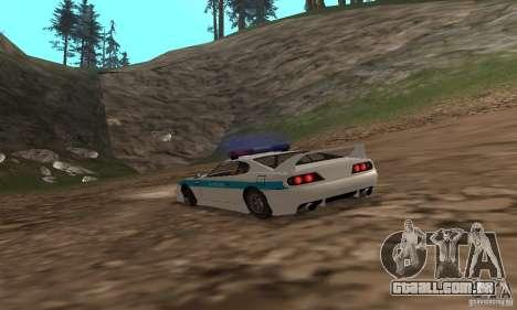 Jester Russian Police para GTA San Andreas vista direita