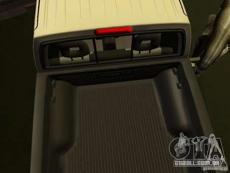 Nissan Frontier para GTA San Andreas vista interior