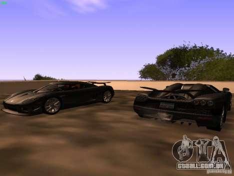 Koenigsegg CCXR Edition para GTA San Andreas traseira esquerda vista
