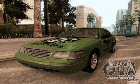 Ford Crown Victoria 2003 para GTA San Andreas vista traseira