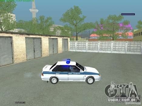 Polícia PPP VAZ 2115 para GTA San Andreas traseira esquerda vista