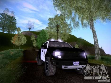Ford Raptor Police para GTA San Andreas vista inferior