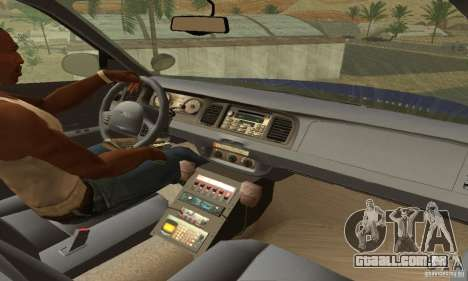 Ford Crown Victoria Virginia Police para GTA San Andreas traseira esquerda vista