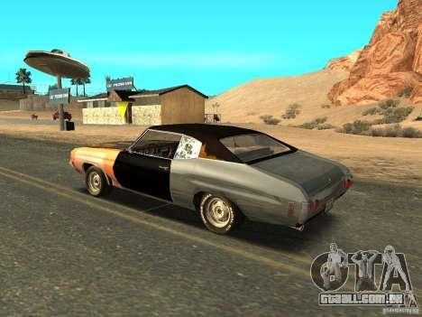 Chevrolet Chevelle Rustelle para GTA San Andreas esquerda vista