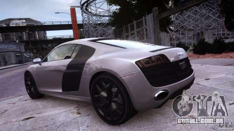 Audi R8 V10 para GTA 4 vista de volta