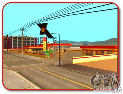 Novo posto de gasolina Shell para GTA San Andreas por diante tela