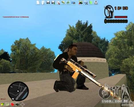 Smalls Chrome Gold Guns Pack para GTA San Andreas oitavo tela