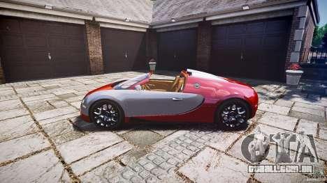 Bugatti Veyron Grand Sport [EPM] 2009 para GTA 4 vista de volta