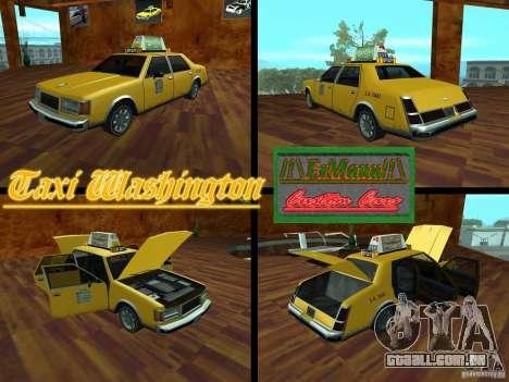 Taxi Washington para GTA San Andreas