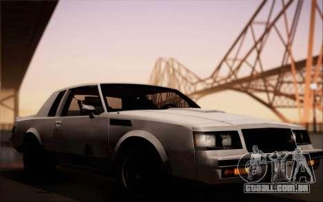 Buick GNX 1987 para GTA San Andreas vista traseira