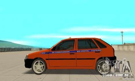 Volkswagen Gol G4 Taxi para GTA San Andreas esquerda vista