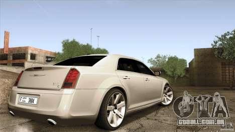 Chrysler 300C V8 Hemi Sedan 2011 para GTA San Andreas esquerda vista
