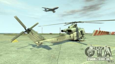 Bell UH-1Y Venom para GTA 4 traseira esquerda vista