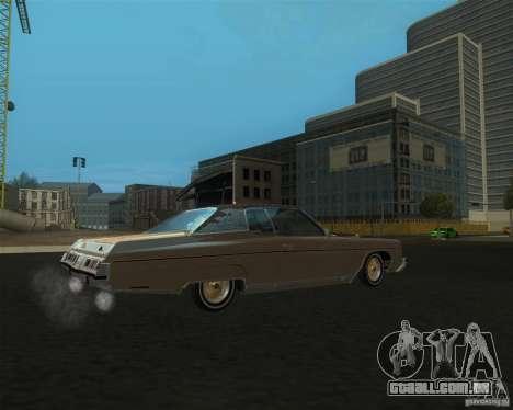 Chevrolet Caprice Classic lowrider para GTA San Andreas esquerda vista