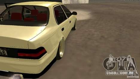 Toyota Corolla Tuned para GTA San Andreas esquerda vista